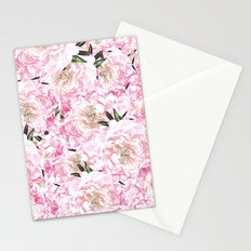 Peonies Pattern Stationery Cards