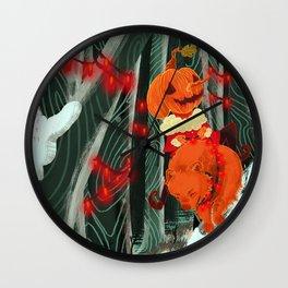 pumpkinboy and werber christmas Wall Clock