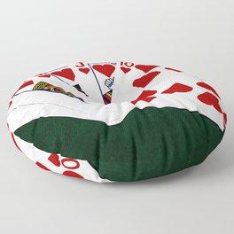Poker Royal Flush Hearts Floor Pillow