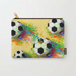 Football soccer sports colorful graphic design Carry-All Pouch