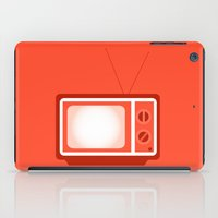 tv iPad Cases featuring television by brittcorry