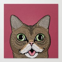 lil bub Canvas Prints featuring 'Lil Bub by Sydney Emery