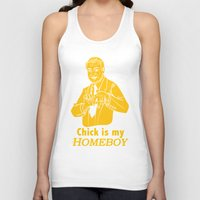 lakers Tank Tops featuring Chick is my Homeboy! by GOGILAND