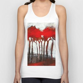 Red trees Unisex Tank Top