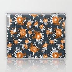Texas longhorns orange and white university college texan football floral pattern Laptop & iPad Skin