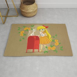Retro Sailor Venus Rug