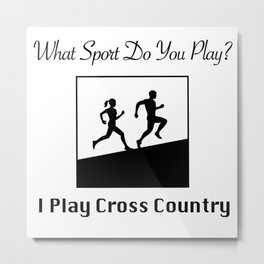 What Sport Do You Play? Metal Print