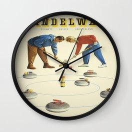 Vintage poster - Grindelwald Wall Clock