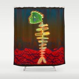 Fish-Bone Shower Curtain