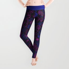 Blue and Purple Stuff Leggings