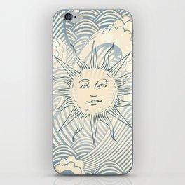 Sun sitting amongst the ocean iPhone Skin