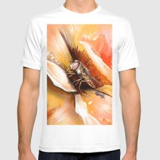 Fly on flower 8 White MEDIUM Mens Fitted Tee