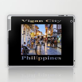 Rush Hour in Vigan City (on black) Laptop & iPad Skin