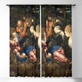 "Tintoretto (Jacopo Robusti) ""Nativity"" Blackout Curtain"
