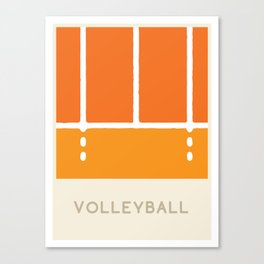 Volleyball (Sports Surfaces Series, No. 24) Canvas Print