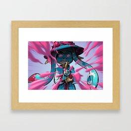Pink vs Blue Framed Art Print