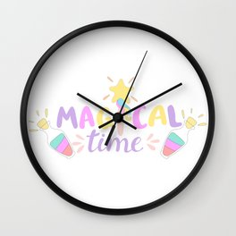 Time For Magic Wall Clock