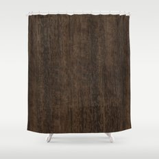 Smoked Etimoe Wood Shower Curtain