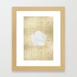 Inverse penta gold Framed Art Print