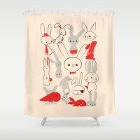 bunnies Shower Curtains featuring Bunnies by Jay Fleck