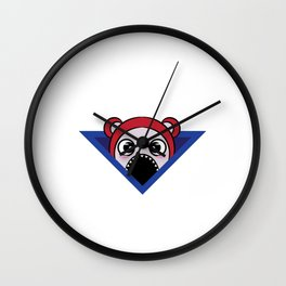 Funny Overthink Tshirt Design Fuck overthinking! Wall Clock