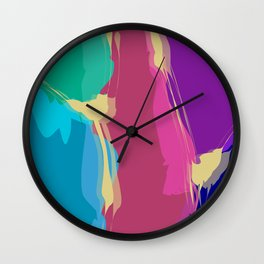Jelly Candy With Gold Sauce Abstract Art Wall Clock