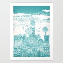 Earth Celestial City Art Print