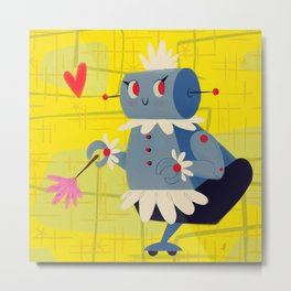 Rosie the Robot Metal Print