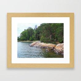 Coast of Grinda Island Framed Art Print