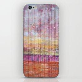 Destin Harbor Pink Sky Sunset abstract mixed media iPhone Skin