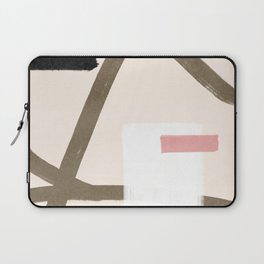 Abstract shapes in earth tones Laptop Sleeve