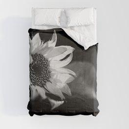 Black and White Sunflower Photo Comforters
