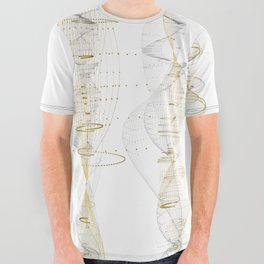 Spiral Columns All Over Graphic Tee