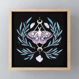 Moon Moth 01 Framed Mini Art Print