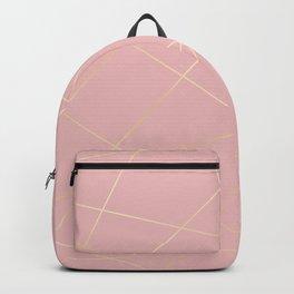 Blush pink & gold Backpack