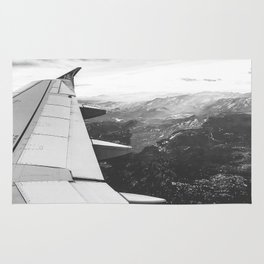 Mountain State // Colorado Rocky Mountains off the Wing of an Airplane Landscape Photo Rug