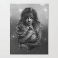 hermione Canvas Prints featuring Hermione by AlchemyArt