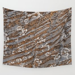 Cracked Stone Striations Wall Tapestry