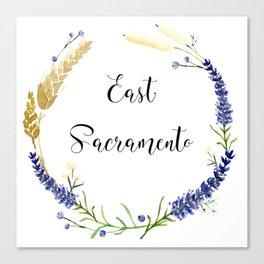 East Sacramento Wreath Canvas Print