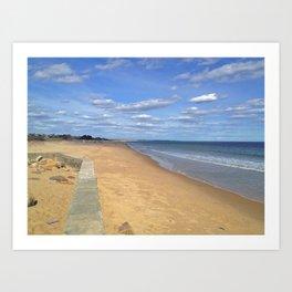 East Beach. Art Print