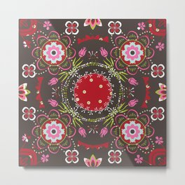 Beautiful Floral Mandala Metal Print