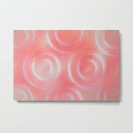 Coral Swirlies Metal Print