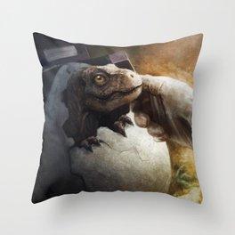 Baby Rexy Throw Pillow