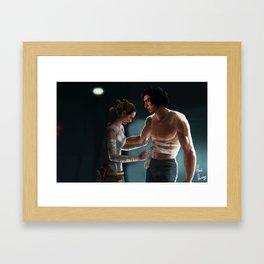 Love Someone Who Is Broken Framed Art Print