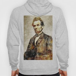 Abraham Lincoln Digital Art Portrait Hoody