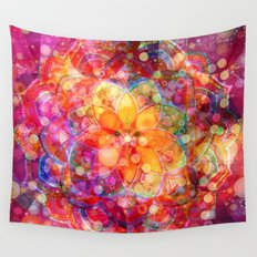 Dreaming Lotus Wall Tapestry