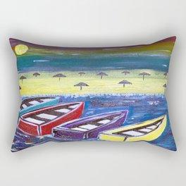 Vibrant Boats Rectangular Pillow