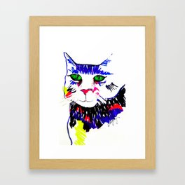Colorful Cat Framed Art Print