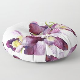 Radiant Orchids: Magenta Dendrobiums Floor Pillow