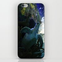 sea turtle iPhone & iPod Skins featuring Turtle by Rose&BumbleBee